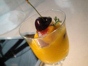 廚房之歌 ~ 夏日餐桌的涼與熱、濃與淡 ~ 考芒果片與芒果冰砂(100.7.30)