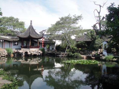 重回蘇州 ~ 在網師園畫畫(101.7.8)