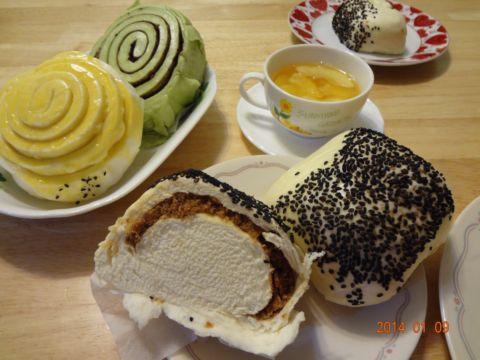 今日點心 ~ 壞饅頭和水果茶(103.1.9)