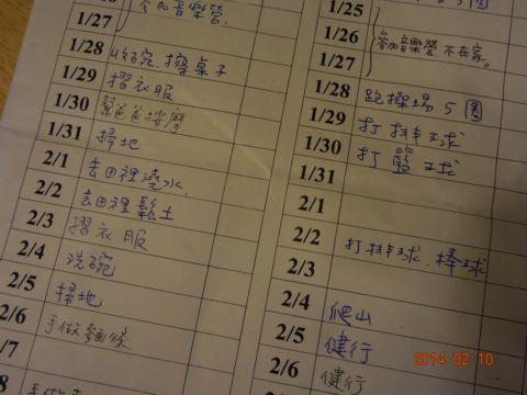 [小五]寒假作業總整理(103.2.10)