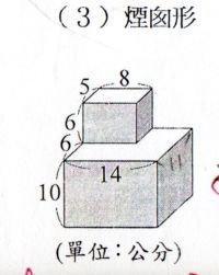 [小五]錯綜複雜的表面積計算(103.5.7)