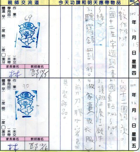 [七年級]討論聯絡簿的使用(104.9.17)