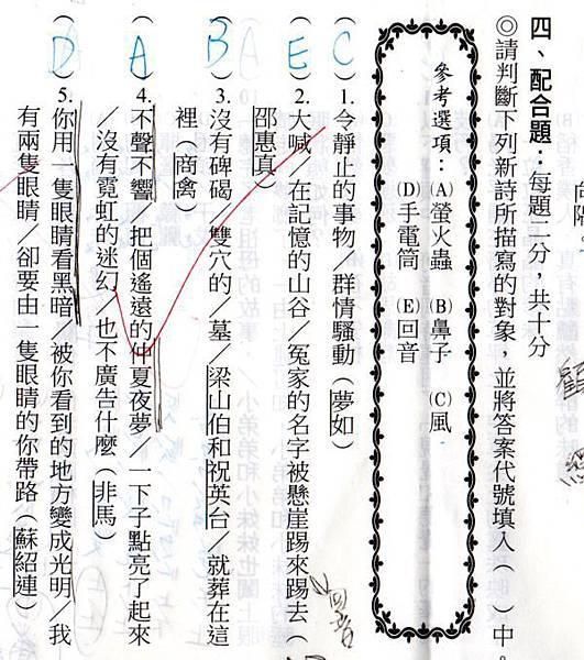 [七年級]梁山伯、祝英台和鼻子有什麼關係?(104.10.11)