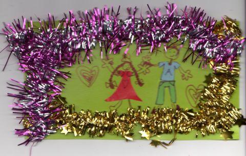 琳琳給家人的賀年卡(98.12.27)