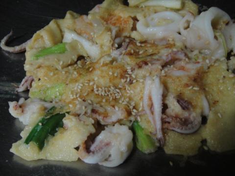 試做「韓國海鮮煎餅」(99.3.22)