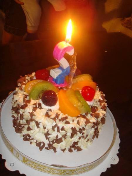 2歲的生日蛋糕