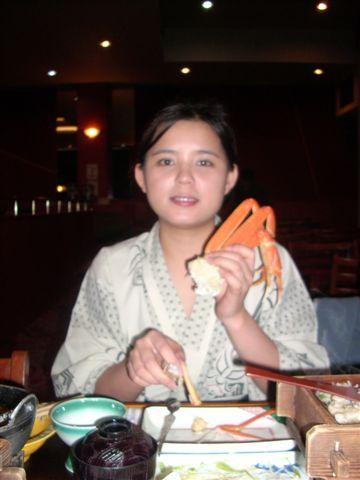 在北海道三餐就是魚蝦蟹貝