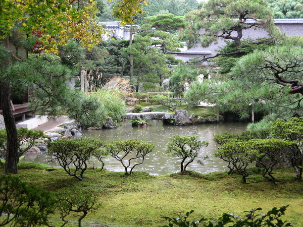 銀閣寺景色