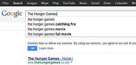 「飢餓遊戲」是2012最火紅的搜尋關鍵字