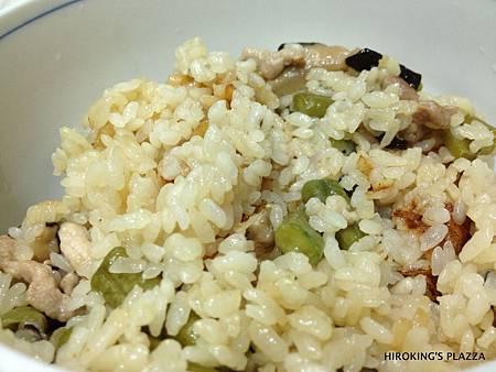 [美食料理動手做]---香菇菜豆豬肉蒸飯