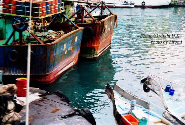 基隆和平港 大船v.s小船