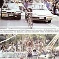 上:1991年Milan – Sanremo賽,CHIAPPUCCI高舉雙手通過終點。 下:1992年環法賽在Sestriere這地方,CHIAPPUCCI傳奇地衝剌竄出