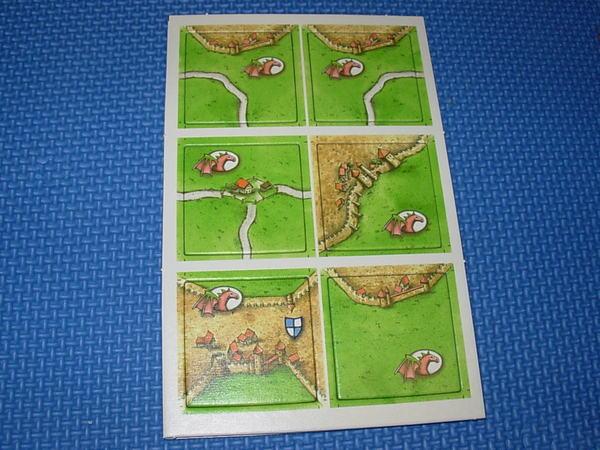 卡卡頌Carcassonne公主與火龍版火龍地圖1
