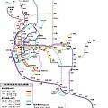 2100年 高屏軌道交通路網圖