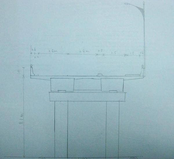 新雙園大橋設計示意圖