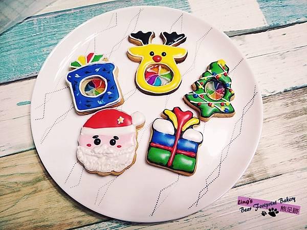 200105 聖誕糖霜玻璃餅乾 熊足跡 (28)