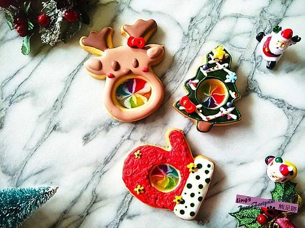 200105 聖誕糖霜玻璃餅乾 熊足跡 (14)