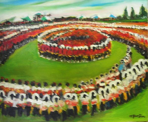 蕭耀天〈鄒族戰祭〉,2009年,油畫