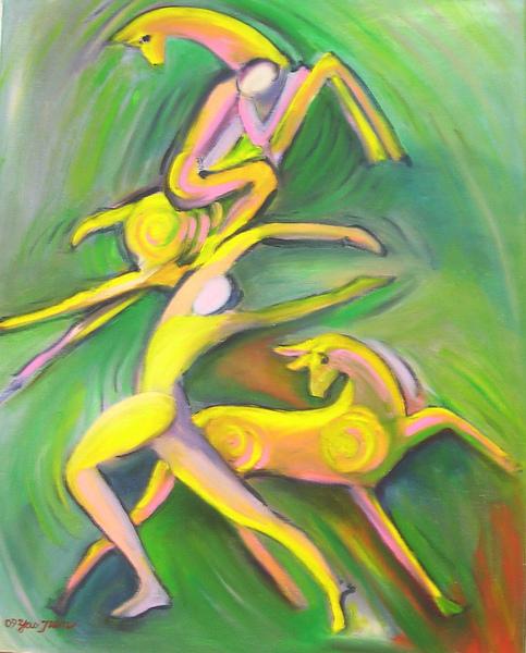 蕭耀天〈神話〉,2009年,油畫