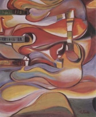蕭耀天〈變奏〉2003油畫