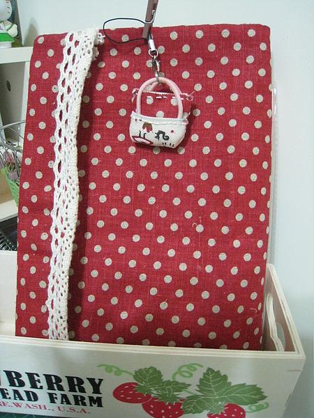 布書衣+小提包吊飾