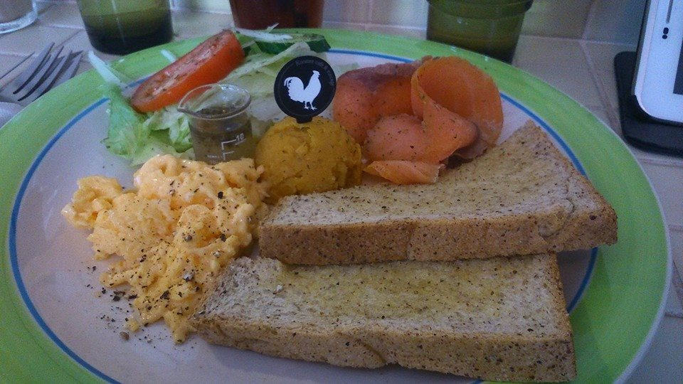 燻鮭魚沙拉早午餐