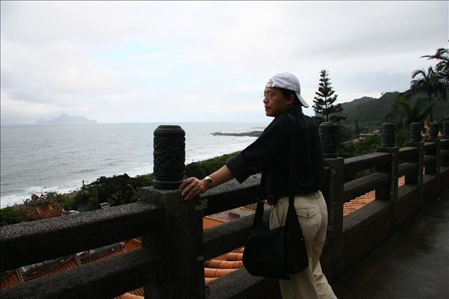 從天公廟可以直接看到龜山島