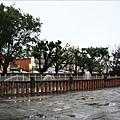 廟前的噴水池