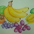 彩色素描-水果