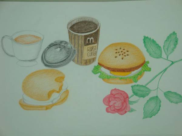 彩色素描-我的麥當勞早餐