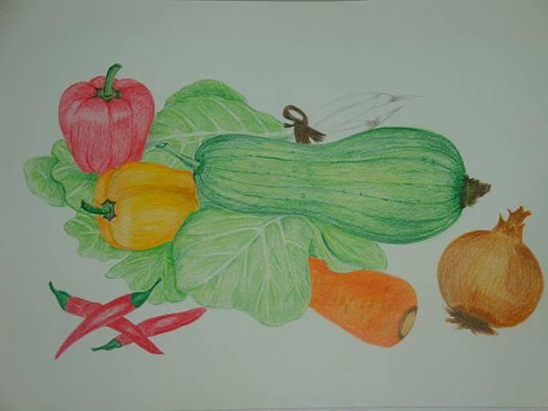 彩色素描-蔬菜