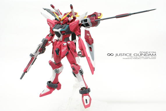 [MG]1/100 ∞ JUSTICE GUNDAM「Front View」