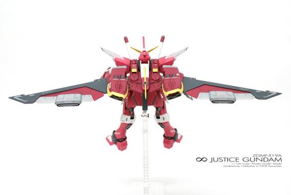[MG]1/100 ∞ JUSTICE GUNDAM「背部俯視圖」