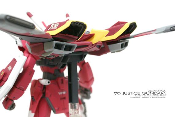 [MG]1/100 ∞ JUSTICE GUNDAM「背部/主推進系統」