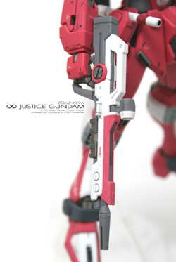 [MG]1/100 ∞ JUSTICE GUNDAM「光束步槍右側」