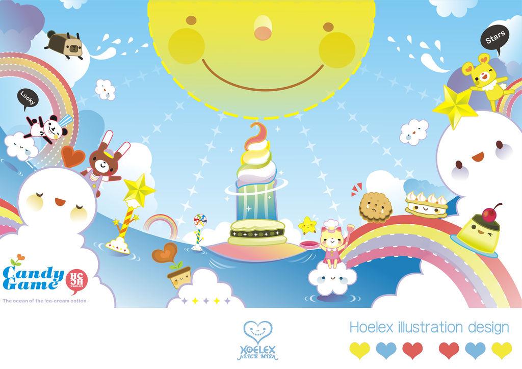 【Candy Game 糖果遊戲世界】- By Hoelex【冰淇淋棉花海洋】