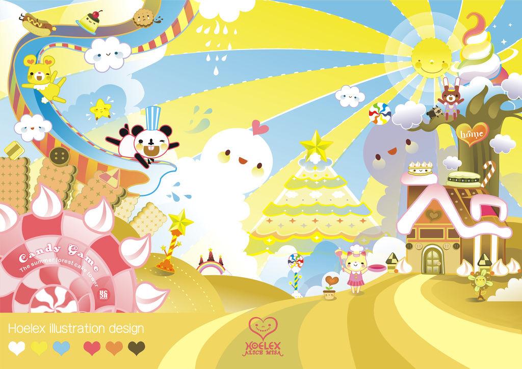 【Candy Game 糖果遊戲世界】- By Hoelex【夏日森林蛋糕塔】