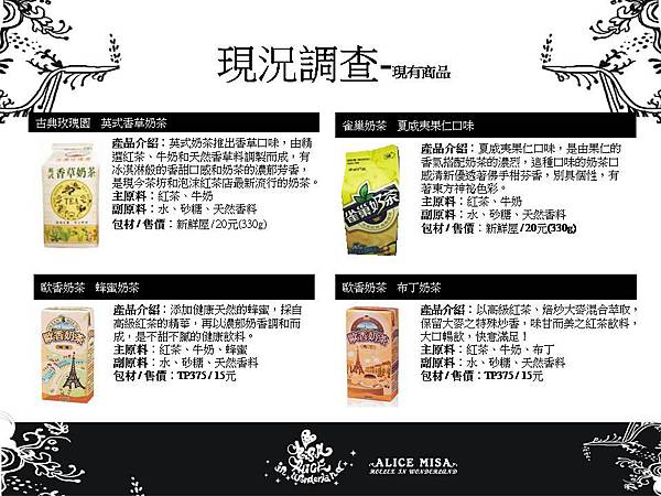 ★【Alice misA 心夢品牌英式奶茶-包裝設計】By Hoelex浩理斯投影片5