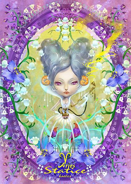 ★【HOELEX星座花語畫框系列】-牡羊座Statice星辰花-HOELEX(浩理斯)