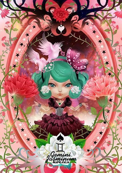 ★【HOELEX星座花語畫框系列】-雙子座 Jasminum茉莉花-HOELEX(浩理斯)