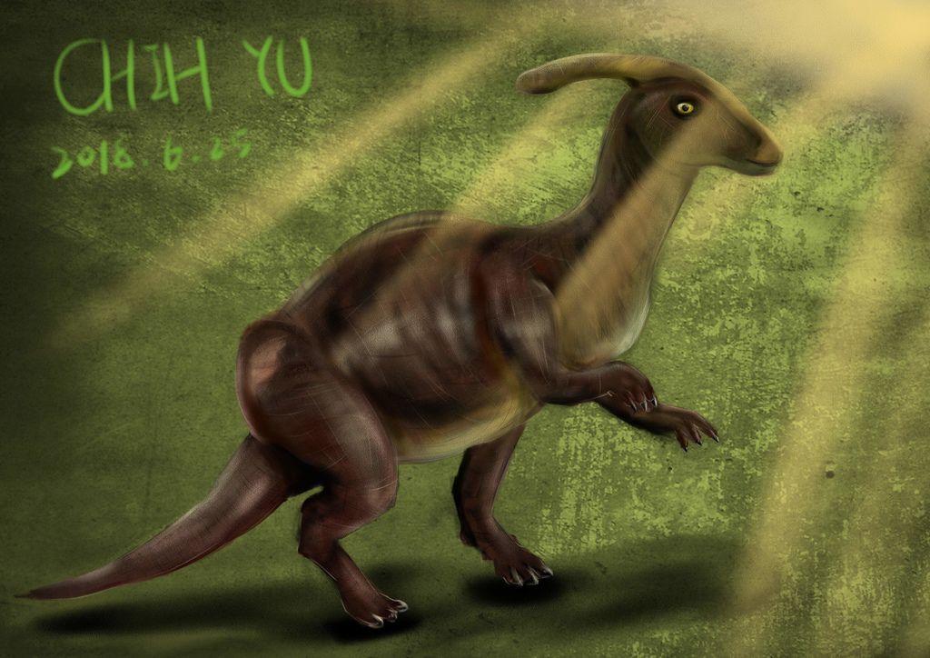 侏儸紀世界Jurassic Park-副櫛龍parasaurolophus-芷羽.jpg