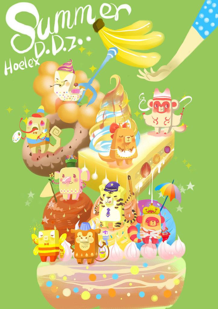 Summer ice Dessert 夏日冰甜點(三)香蕉季.jpg