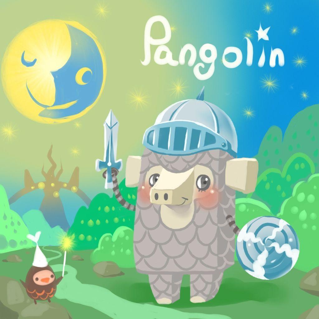 DODO方塊Pangolin勇戰士穿山甲(甲甲)(背景).JPG