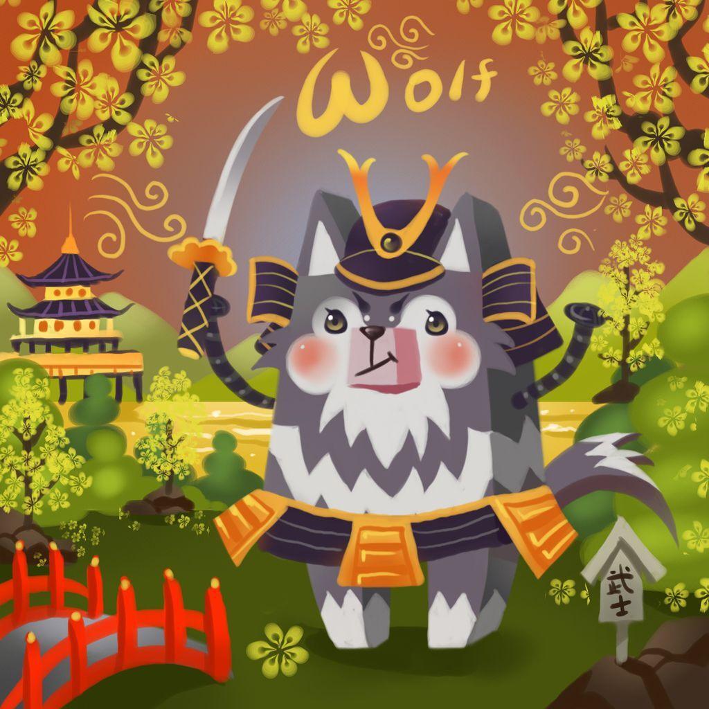 DODO方塊-Wolf 野狼日武士-HOELEX(背景).JPG