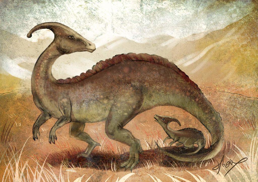 侏儸紀世界Jurassic Park-副櫛龍Parasaurolophus-hoelex12.jpg