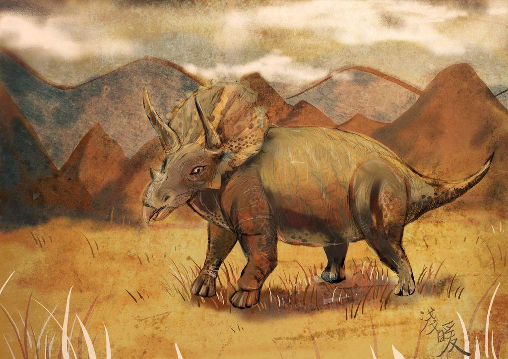 侏儸紀世界Jurassic Park-三角龍Triceratops-林佳柔.jpg
