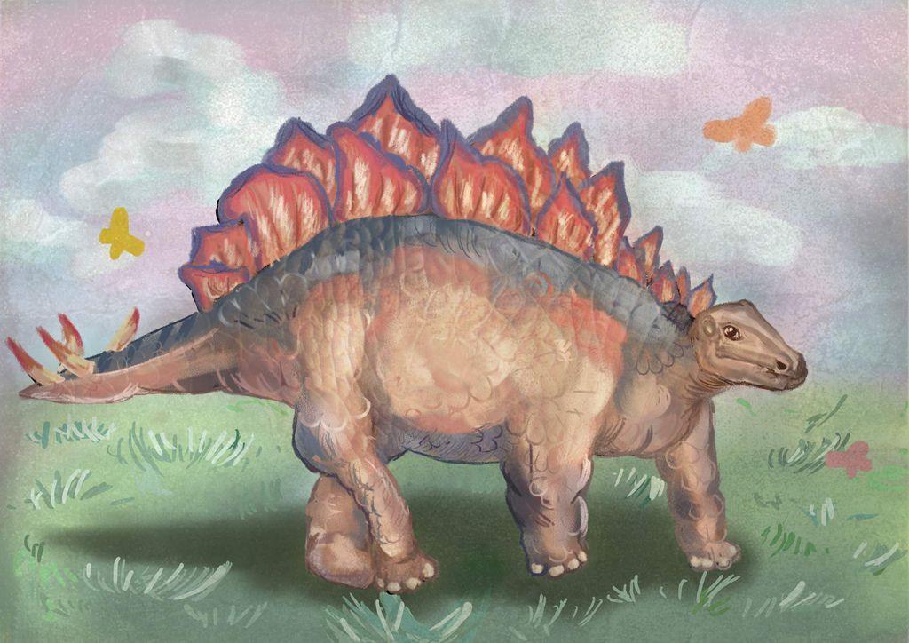 侏儸紀世界Jurassic Park-劍龍Stegosaurus-傅妃甄 .jpg