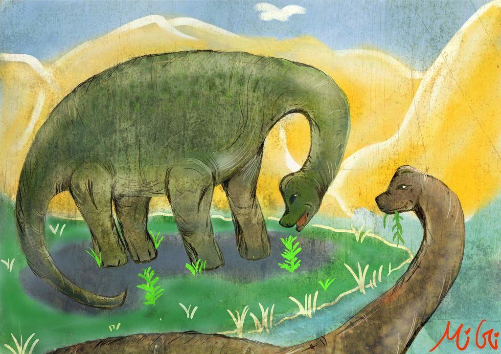 侏儸紀世界Jurassic Park-腕龍Brachiosaurus-鄔皓妤(MiGi)02.jpg
