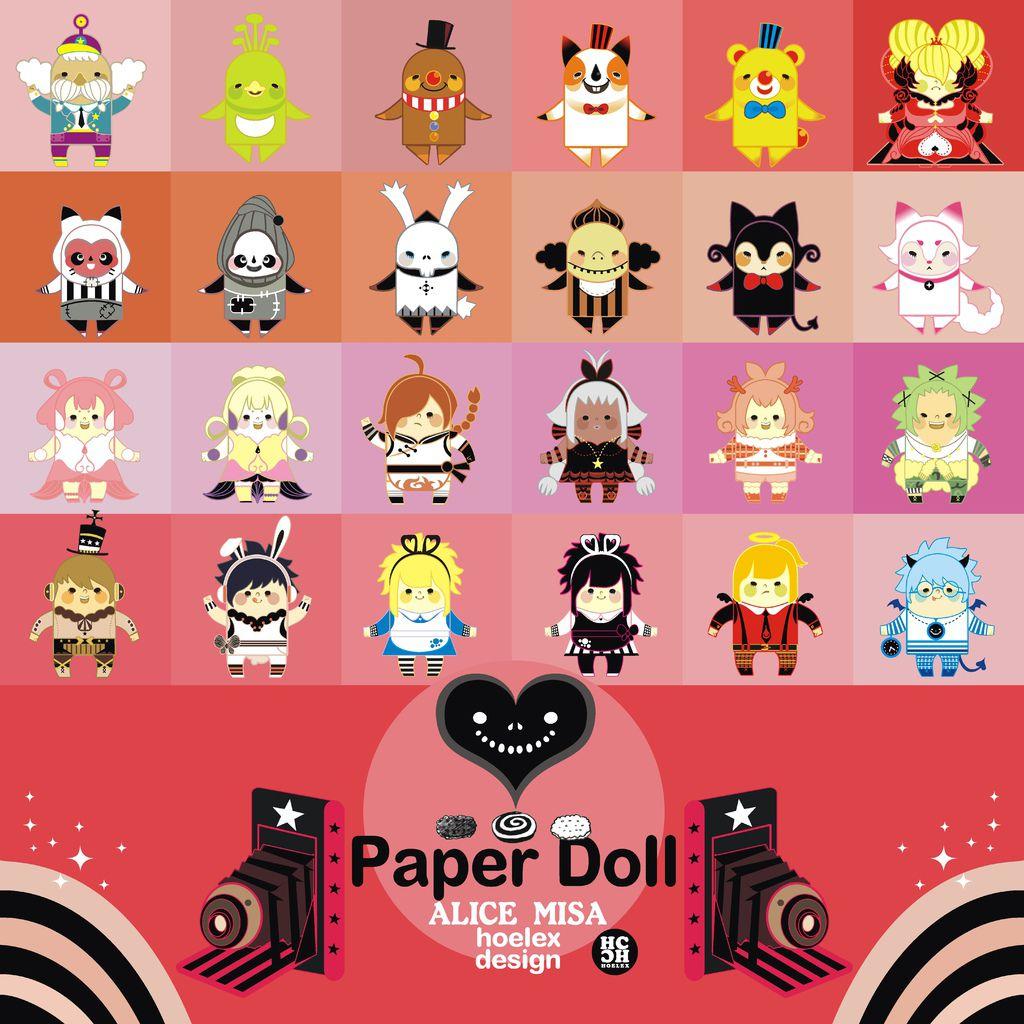 ★【Paper Doll紙公仔Hoelex創作】心夢公仔玩具版【ALICE  MISA02夢漫少女 】(新版).