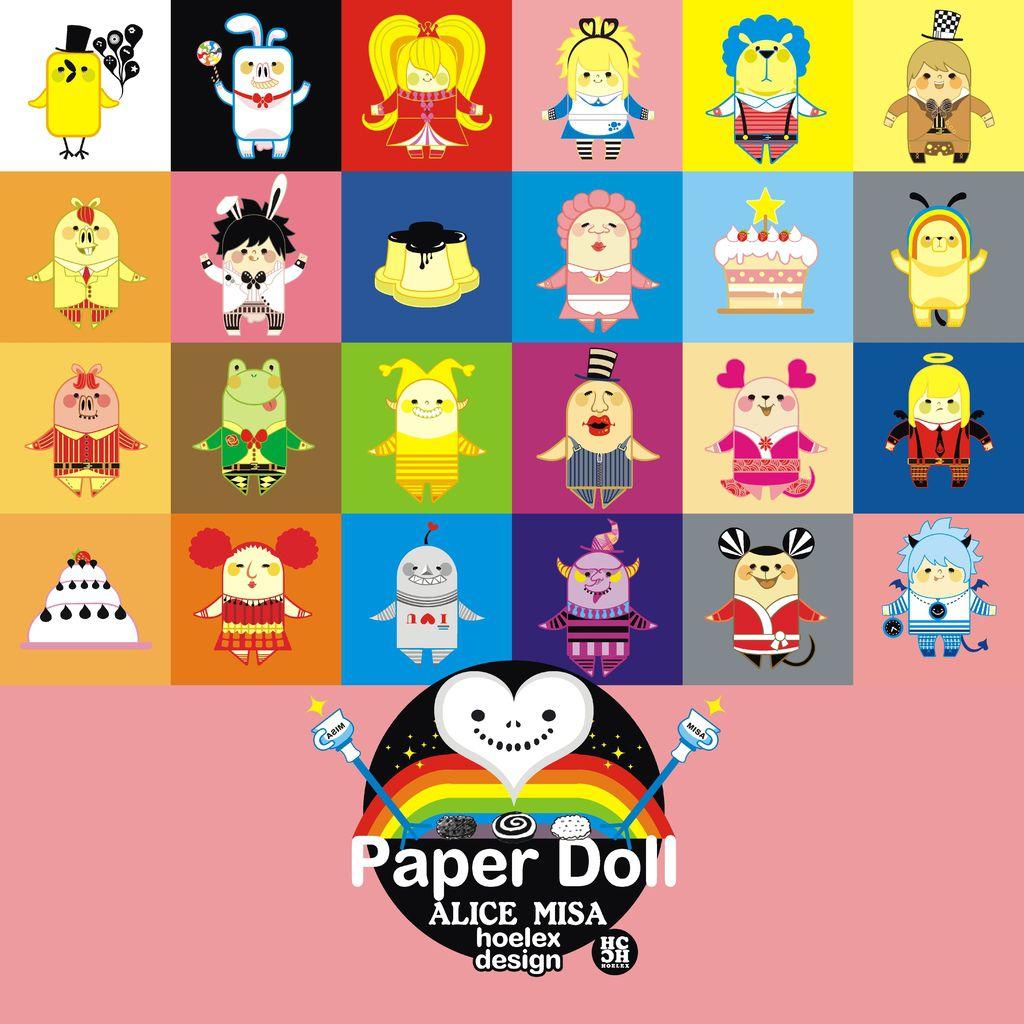 ★【Paper Doll紙公仔Hoelex創作】心夢公仔玩具版【ALICE  MISA全體】(新版)